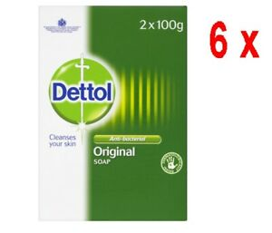 """19,96€/kg - 6x DETTOL antibakterielle Hygiene-Seife """"ORIGINAL""""- Duopack 2 x 100g"""