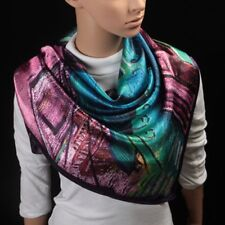"""Fashion Scarf Women's Oil Painting Printed Large Silk Satin Square Scarf 35""""*35"""""""