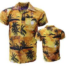 MENS HAWAIIAN SHIRT STAG BEACH HAWAII ALOHA PARTY SUMMER HOLIDAY FANCY S -XXL D1