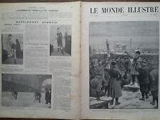 LE MONDE ILLUSTRE 1905 N° 2497  L' EMEUTE A SAINT- PETERSBOURG