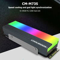 5V 3Pin M.2 SSD Heatsink Cooler 2280 ARGB Solid State Disk Radiator Pad for PC