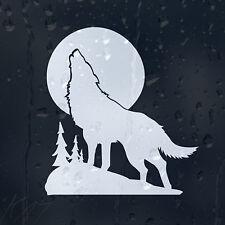 White Wolf en una luna luz coche decal pegatina de vinilo