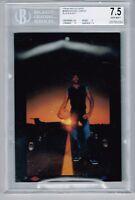 1984-85 Nike Ad Card Black & Blue Michael Jordan HOF RC Rookie BGS 7.5 NEAR MINT