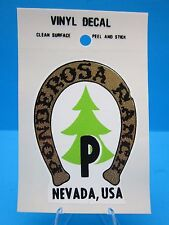"VINTAGE...""PONDEROSA  RANCH - NEVADA, USA"" - STICKER / DECAL...  ""L@@K"""