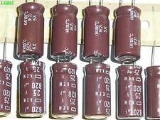 20pcs 820UF 25V Nippon LOW ESR Capacitor 25V820UF 10X20 EKZM250E821MJ20S A9A