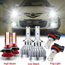 For Mazda 3 2004 2005 2006 Mazda3 LED Headlight 9005 H7 Bulbs + H11 Fog Light 6x