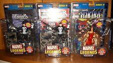 Marvel Legends Toy Biz Series 4 Lot of 3 Electra + 2 The Punisher Foil Variants