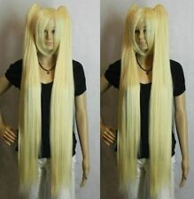 Beau blonde d'anime à long droite perruqueCosplay wig+Hairnet