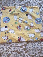 Vtg Moomin Pillow Case Finlayson Yellow Cotton