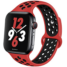 Apple Watch 5 4 3 2 Band 44mm Breathable Sporty  iWatch Nike+ Unisex Bands Red