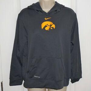 Nike Therma-Fit Hooded Sweatshirt Hoodie Gray Gold Iowa Hawkeyes Youth XL EUC KR