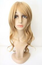 NEW Long Wavy Curly Auburn Brown Wig Heat Resistant Halloween Cosplay Costume