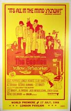 """The Beatles Concert Poster - 1968 - Yellow Submarine World Premiere - 14""""x22"""""""