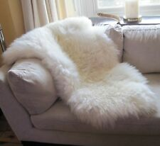 GENUINE SHEEPSKIN RUG XXL NATURAL SUPER THICK WOOL