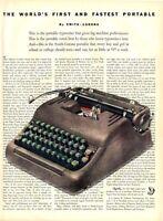 1953 Smith Corona Typewriter great artistic layout PRINT AD