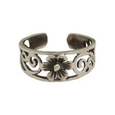 Ring.With Flower Tr32 Sterling Silver Adjustable Toe