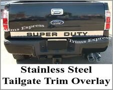 08-16 Super Duty/F-250 Tailgate Trim Molding Outline SUPERDUTY Stainless Steel