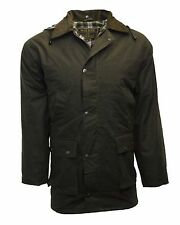Mens Padded Wax Jacket Countrywear COTTON Waxed Coat XS-5XL Olive Navy Brown