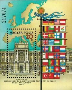 SPECIAL LOT Hungary- SC# 3005 - Palace & Flags - Lot of 25 Souvenir Sheets - MNH