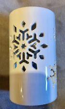 Bath & Body Works White Candle Barn - Ceramic Snowflake Fragrance Oil Wax Warmer