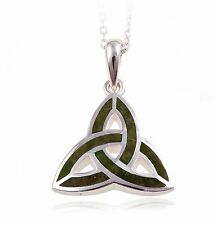 Irish Connemara Marble Celtic Knot Pendant Necklace by J. C. Walsh & Sons #10803