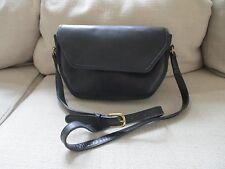 Vintage COACH Black Leather Crossbody Saddle Bag 9947 Purse