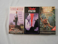 3 Michael Douglas Movies VHSTapes:FallingDown/FatalAttraction/RomancingTheStone