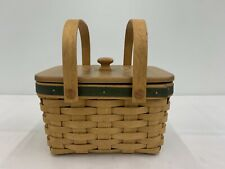 Longaberger 2003 Small Market Basket Includes Lid And Protector