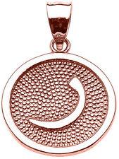 "Rose Gold Arabic Letter "" raa "" r Initial Charm Pendant"