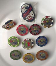 2006 eBay Live! Vegas Poker Chip Pin set of 9 PINS + eBay USPS Pin + BOSTON 2007