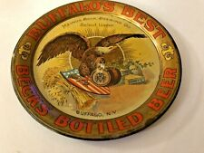 Pre-Prohibition Buffalo'S Best Becks Bottled Beer Tin Litho Adv. Tip Tray Ny
