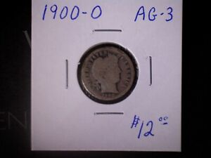 1900-O 10C Barber Dime, AG  , SALE