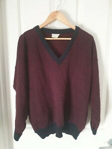 FLETCHER JONES, Size 18, V Neck, Wool Jumper, Made In Australia