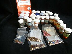 Vintage Collection of Crafting Rhinestones, Flat & Pointed Backs, Stars, Hearts+