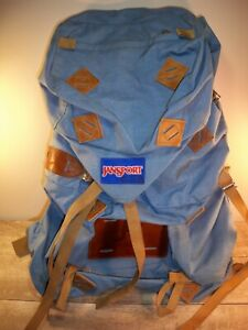 Vintage Jansport Mountaineering Backpack Hiking Camping USA Made Blue Hip Wings