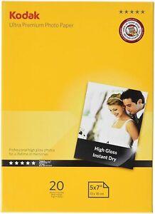 "Kodak Ultra Premium Photo Paper 7x5"" (13 x 18cm) 280gsm High Gloss Brand New"