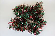 Red And Green 2m (6.5 Ft) Christmas Tinsel Tree Decorations Tinsel Garland