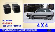 Casse Fiat Panda 4x4 altoparlanti stereo 86>2003 Nero 100 Watt radio kit set