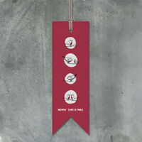 Merry Christmas Red Card Bookmark By East Of India Secret Santa Gift Present