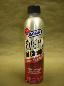 Gunk Oil Treatment W/ PTFE Improved wear resistance & Friction Reducers