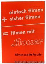 """BAUER Prospekt """" Bauer - 88F / 88G / 88E / 88D & Zubehör """" Broschüre (X2235"""