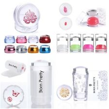 2Pcs/Set ear Jelly Silicone Stamper Nail Art Stamping Stamp Scraper