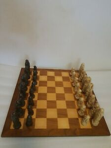 Vintage 1970's Chinese Themed Chess Set