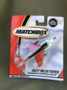 2000 Matchbox Sky Busters Harrier Jet Red White Diecast Vintage NEW