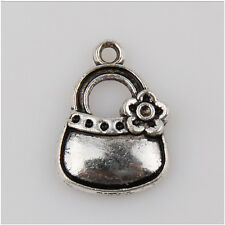 40 Handbag Tibetan Silver Charms Pendants Jewelry Making Findings 19mm EIF0148