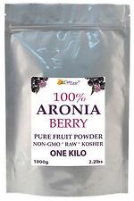 Pure Raw ARONIA Black Choke Berry Bulk POWDER ~ Kosher Non-GMO ~ KILO 2 Pound LB