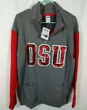 Victoria's Secret PINK Sequin Bling OHIO STATE OSU Sweatshirt Small NEW NWT