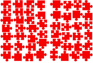 Small Jigsaw Pieces, vinyl wall sticker, self adhesive decal
