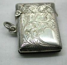 Edwardian Beautiful Condition Silver Match Case