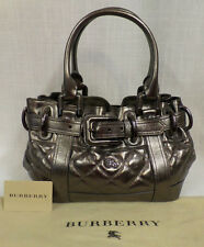 Authentic Burberry Metallic Quilted Baby Beaton with Cover $1,595